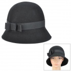Fashion Wool Hat for Women - Black