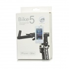 Bicycle 360 Degrees Rotation Anti Shock / Slip Waterproof ABS Holder for Iphone 5 - Black