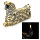 Stylish Python Shape Yellow Flame Butane Gas Lighter - Bronze