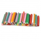 Cute Animal Style Polymer Clay Nail / Mobile Phone Decoration Strips Set - Multi-Color (50 PCS)