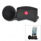 Rubber Amplifying Loudspeaker Holder for iPhone 5 - Black