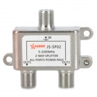 JS-SP02 2-Way SATV / CATV Splitter - Prata