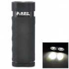 Tagwoods T-303 Water Resistant External 4400mAh Power Bank + LED Flashlight for iPhone 4/4S- Black