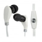 Wallytech WHF-108 Kunststoff-In-Ear-Stereo-Ohrhörer w / Mikrofon für iPad + More - White + Black