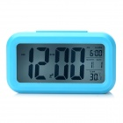 "JP9901 4.7"" LCD Multi-Function Night Vision Alarm Clock w/ Calendar / Thermometer - Blue (3 x AAA)"