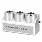 AZ63 100W 1-to-3 Car Cigarette Lighter Socket Splitter w/ Individual Switch - Silver (DC 12~24V)