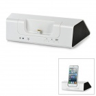 Bluetooth v3.0 2.1-Channel Speaker Charging Dock for iPhone 5 / iPod Touch 5 - White