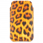 Large Leopard Pattern Fashion PU Leather Case for Iphone 4 / 4S - Yellow + Brown