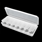 A2 Portable 7-Compartment Medicine Pill Storage Box - White