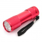9-LED 60lm White Light Taschenlampe - Rot (3 x AAA)
