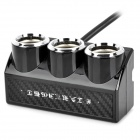 AZ63 100W 1-to-3 Car Cigarette Lighter Socket Splitter w/ Individual Switch - Black (DC 12~24V)