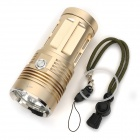 SKYRAY S-338 2000lm 3-modus Hvit lommelykt m / 3 x Cree XM-L T6-Lysgull (4 x 18650)