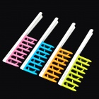 F211 Anti-Static Large-Tooth Curly Hair Combs - Green + Blue + Purple + Orange (4PCS)