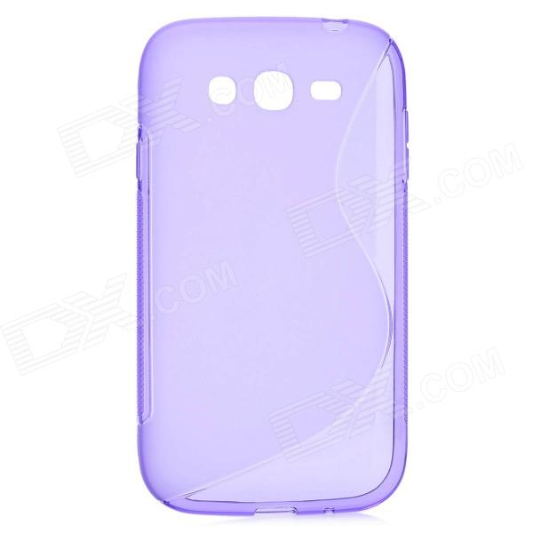 S Style Protective TPU Back Case for Samsung i9082 - Translucent Purple stylish s pattern protective tpu back case for htc one max t6 8088 809d purple