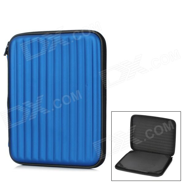 """Multifunction Protective PU Bag Case Stand w/ Speaker / USB for 9.7"""" Tablet PC - Deep Blue"""