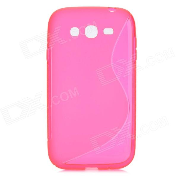 """S"" Style Protective TPU Back Case for Samsung i9082 - Translucent Deep Pink"