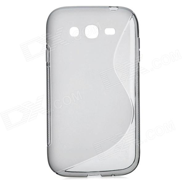 S Style Protective TPU Back Case for Samsung i9082 - Translucent Grey s style protective soft tpu back case for nokia lumia 928 translucent grey