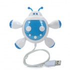 Beetle Stil 4-Port USB 2.0 Hub - White + Blue