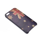 Retro Australian Flag Pattern Protective Plastic Back Case for Iphone 5 - Blue + Red + Yellow