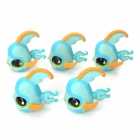 Cute Fish Display Model Toy Set - Blue + Yellow + Black (5 PCS)