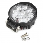 27W 1800lm 9-LED Car White Light ambiente / Trabajo / Inspección / cúpula / Backup Lamp - Negro