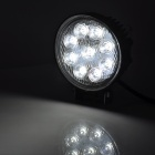 27W 1800lm 9-LED White Light Car Ambient / Working / Inspection / Dome / Backup Lamp - Black