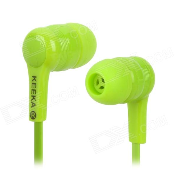 KA-13 3.5mm Plug Wired In-Ear Noodle Earphones - Cyan (120cm)