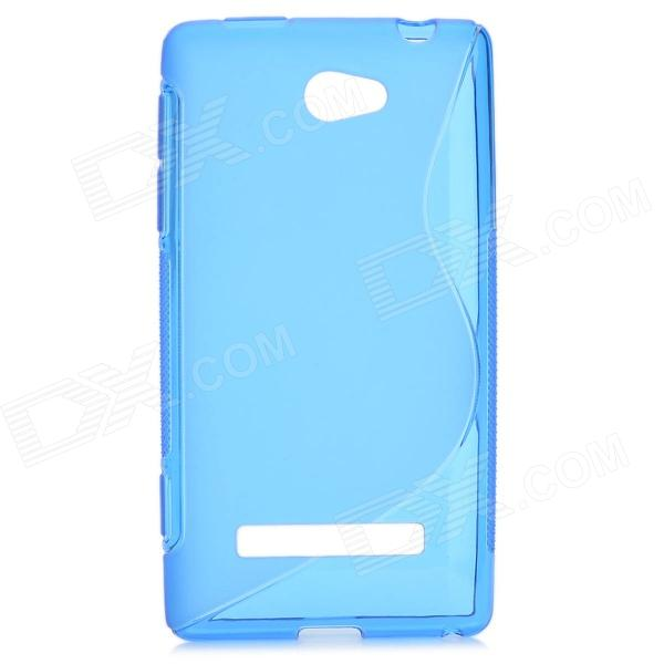 S Style Protective TPU Back Case for HTC 8S - Translucent Blue s style protective tpu back case for htc 8s translucent deep pink