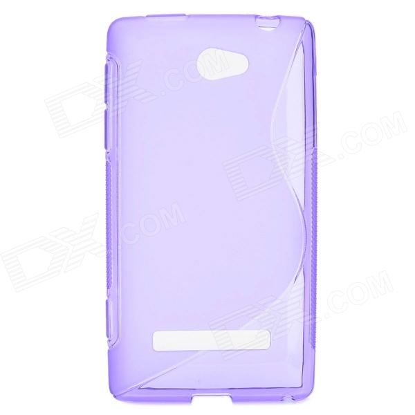 """S"" Style Protective TPU Back Case for HTC 8S - Translucent Purple"