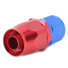 Aluminum Alloy Straight AN8 Car Oil Pipe Joint - Red + Blue