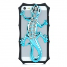 3D Gecko Style Plastic + Rhinestone Back Frame Case for Iphone 5 - Light Blue