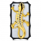 3D Gecko Style Plastic + Rhinestone Back Frame Case for Iphone 4 / 4S - Golden