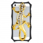 3D Gecko Style Plastic + Rhinestone Back Frame Case for iPhone 5 - Golden