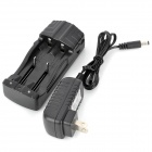 TrustFire TR-007 Battery Charger + 2-Flat-Pin Plug for 14500 / 14650 / 17670 / 18650 / 18500 - Black