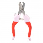 Y1309 Pet Care Paw Clippers / Trimmer for Dog - Red + Pink + Silver