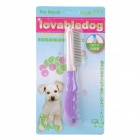 Y1303 PE Pet Cleaning / Grooming Massage Comb / Brush for Dog / Cat - Purple
