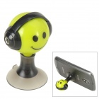Audio Earphone Splitter Cable Adapter with Suction Stand - Green + Black (3.5mm)
