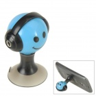 Audio Earphone Splitter Cable Adapter with Suction Stand - Blue + Black (3.5mm)