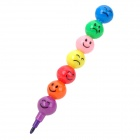 001 Funny Removable / Assembling Plastic Crayon Stylos - multicolore
