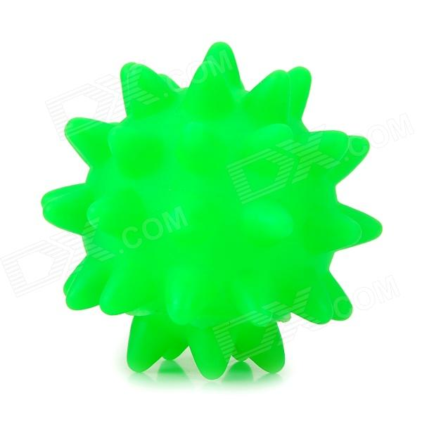PVC Sea Urchin Style Ball Pet Dog Toy - Green