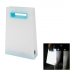 Creative Handbag Style Warm White Light LED USB Rechargeable Table Light - White + Blue