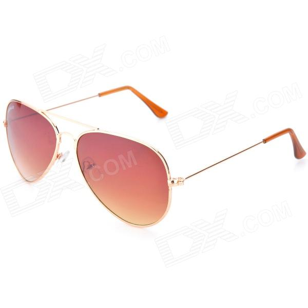 KaShiLuo 3025 Zinc Alloy Spectacle Frame + PC Lens Fashion Sunglasses - Golden retro women sunglasses polarized driving sun glasses with pc metal hinge shades uv400 protection gafas de sol mujer 4 colors