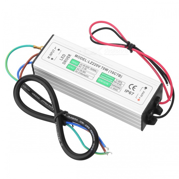 Water Resistance 70W External LED Power Supply Driver - Silver (90~265V)