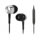 Kanen ip106 In-ear Earphone w/ Microphone for Iphone / HTC / Xiaomi - Black + Silver