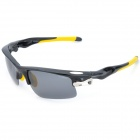 KaShiLuo 9158 Sports Riding Windproof UV400 Protection Polarized Sunglasses - Black + Yellow