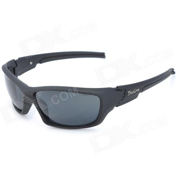 BaoLiNa 5013 Sports Riding Windproof UV400 Protection Goggles Sunglasses - Black