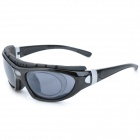 KaShiLuo XQ-023 Sports Riding Windproof UV400 Protection Polarized Sunglasses for Men - Black