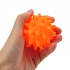 Squeaky Sea Urchin Ball Pet Dog Puppy PVC Chew Toy - Orange