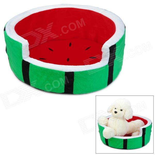 Watermelon Style PP Cotton Berber Fleece Pet Nest Bed (Size S)