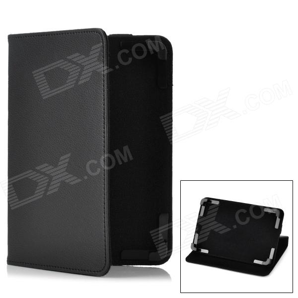 Stylish Protective PU Leather Stand Case for 7 Tablet PC - Black